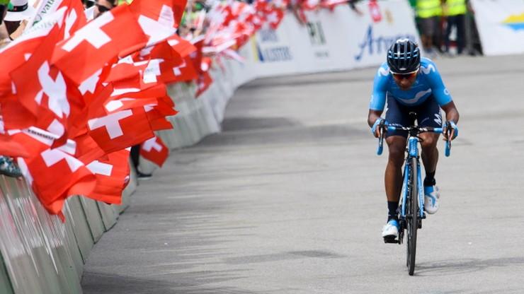 Dookoła Szwajcarii: Quintana wygrał etap, Porte nadal liderem