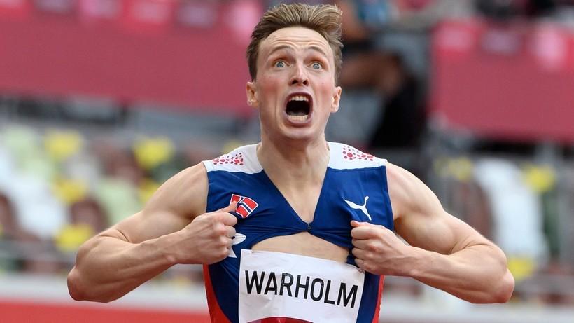 Norwegia chce pojedynku Karstena Warholma z Jakobem Ingebrigtsenem na 800 metrów