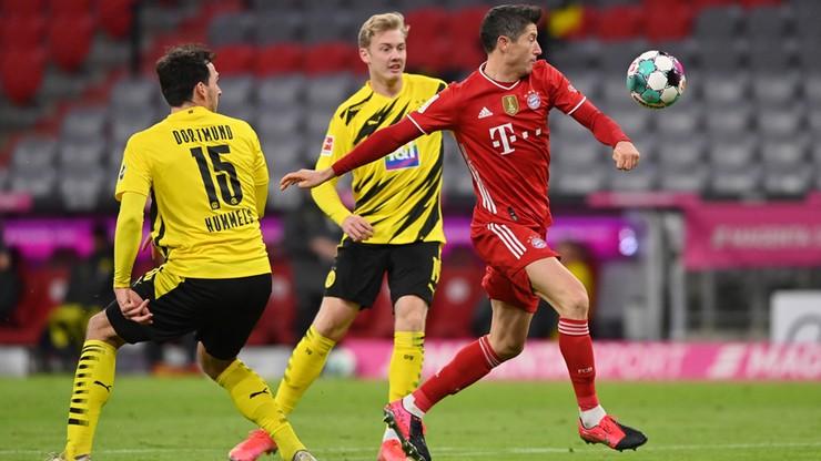 Trzy gole Roberta Lewandowskiego w meczu z Borussią Dortmund