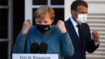 Merkel i Macron ramię w ramię. Mówią o Białorusi