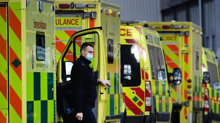 Pandemia koronawirusa. Dobowy rekord zgonów w Wielkiej Brytanii