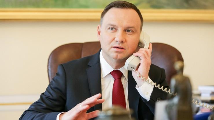 Telefoniczna rozmowa Dudy z Macronem. Wśród tematów m.in. reforma sądownictwa