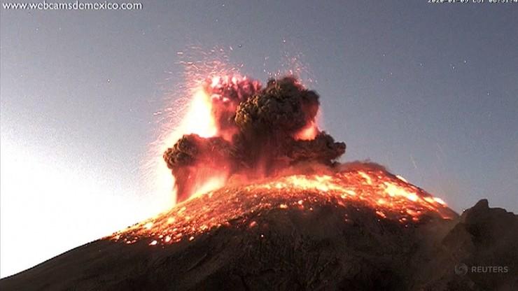 Wybuch wulkanu w Meksyku. Równie piękne, jak przerażające nagranie