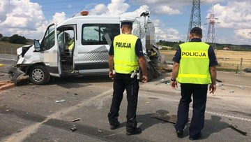 Drogowcy zginęli na obwodnicy Suwałk. Potrąciła ich ciężarówka