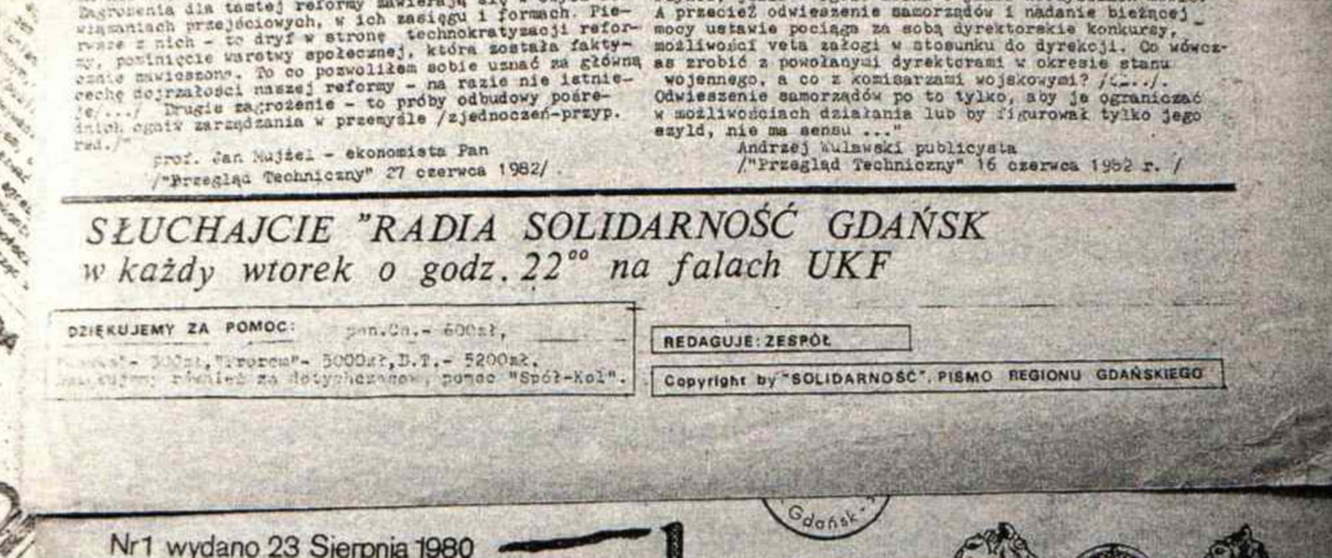 Antykomunistyczne, podziemne i nieuchwytne dla SB. Radio Solidarność Gdańsk
