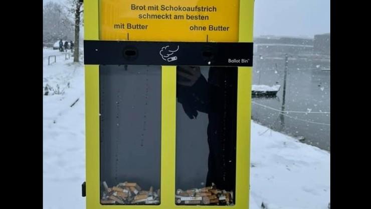 Niemcy: głosowanie za pomocą... niedopałków. Tak w Konstancji walczą ze śmieceniem