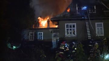 Pożar budynku w centrum Zakopanego