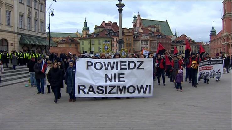 """""""Powiedz nie rasizmowi"""". Antyrasistowski marsz w Warszawie"""