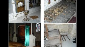 Zbezczeszczony kościół we Francji. Tabernakulum połamane, monstrancja i hostia skradzione