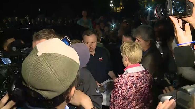 Prezydent spotkał się z mieszkańcami Łapanowa