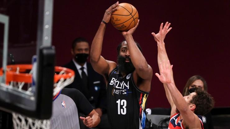 NBA: Znakomity występ Jamesa Hardena i zwycięstwo Nets