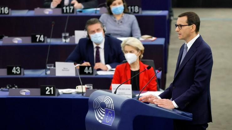 Morawiecki znów przy mównicy: zamierzamy zlikwidować Izbę Dyscyplinarną