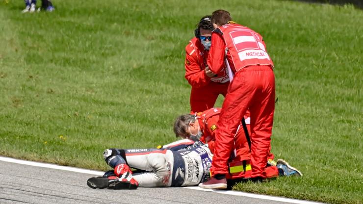 MotoGP: Poważny wypadek na GP w Austrii! Motocykl do kasacji! (WIDEO)
