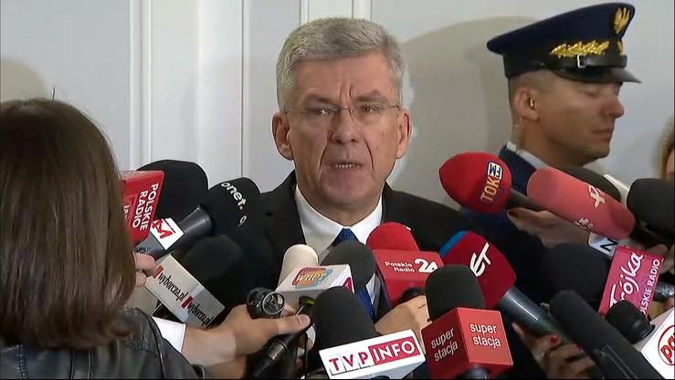 """""""Będziemy pracować nad nowymi zasadami współpracy"""". Karczewski po spotkaniu z dziennikarzami"""