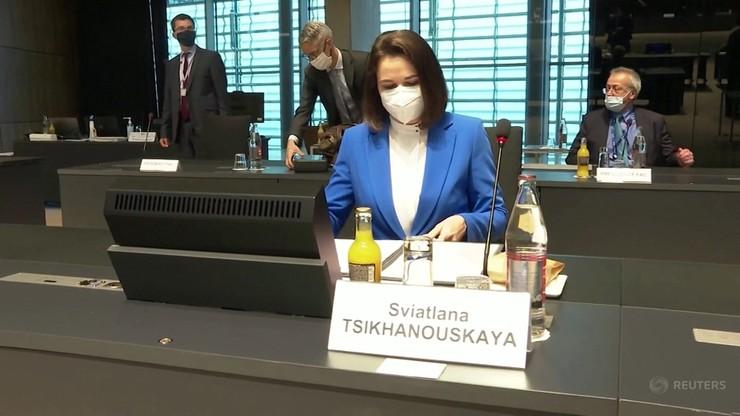 Cichanouska zadowolona ze skoordynowanych sankcji na reżim Łukaszenki