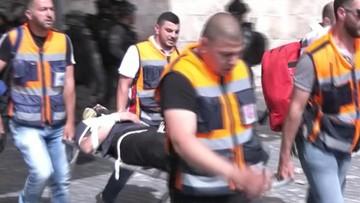 Ponad 300 rannych. Starcia Palestyńczyków z policją w meczecie Al-Aksa