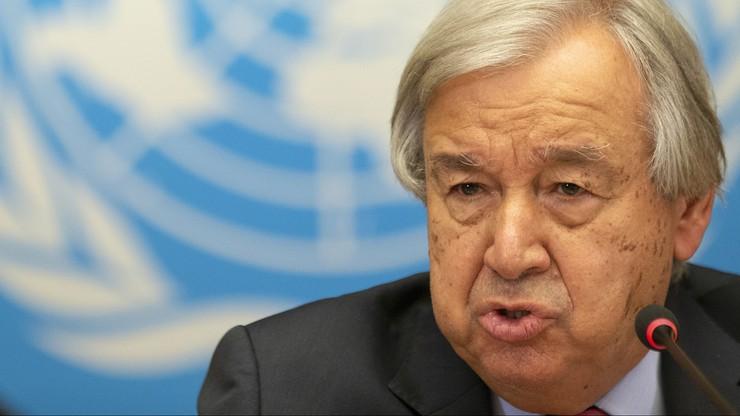 """Szef ONZ: świat na """"katastrofalnej drodze"""" do ocieplenia klimatu o 2,7 st. C"""