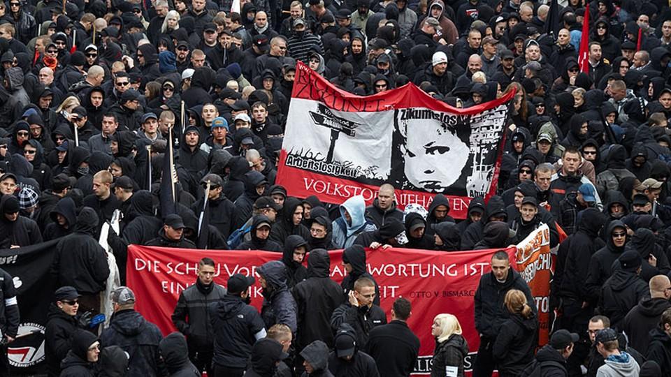 Demonstracja neonazistów w Niemczech
