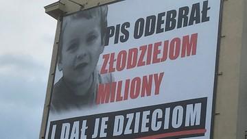 """""""PiS odebrał złodziejom miliony"""". Odpowiedź na billboardy Platformy i Nowoczesnej"""