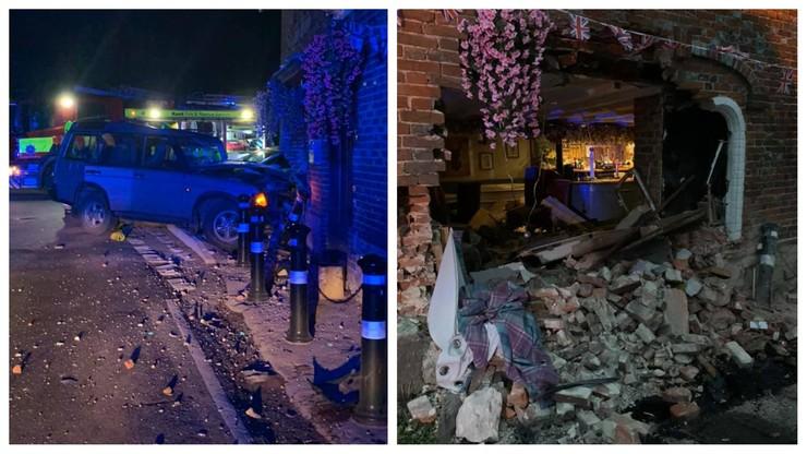 """""""Niesamowity pech"""". Tuż przed otwarciem pubów w Anglii, ich lokal zniszczył pijany kierowca"""