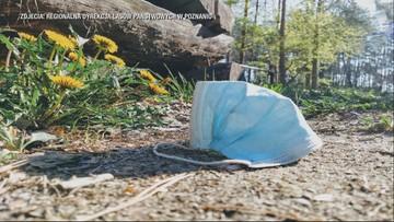 """[OSTRZEŻENIE] Zużyte maseczki w parkach i lasach. """"Niebezpieczny materiał zakaźny"""""""