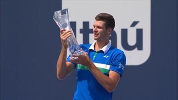 Skrót wygranego finału Hurkacza w ATP Miami (WIDEO)