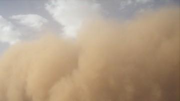 Burza piaskowa w Wielkopolsce