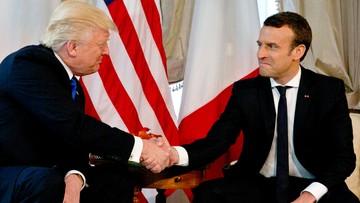 Donald Trump spotkał się z Emmanuelem Macronem