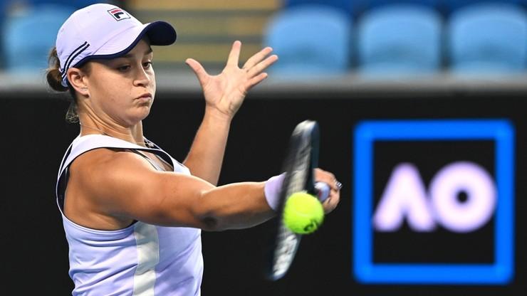 Australian Open: Ashleigh Barty przy pustych trybunach awansowała do 1/8 finału