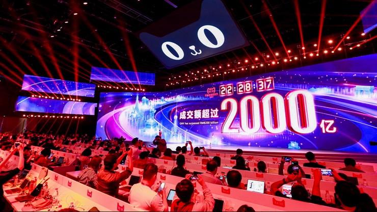 Chiny: 1 mld dolarów w 85 sekund. Kolejny rekord sprzedaży internetowej w święto singli