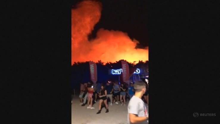 Pożar na chorwackiej wyspie. Ewakuowano 10 tys. uczestników festiwalu muzycznego