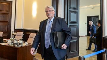 Brexit. Waszczykowski o możliwym spotkaniu w Warszawie szefów MSZ państw UE