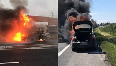 Płonące samochody. Przez wadę fabryczną stracili swoje auta