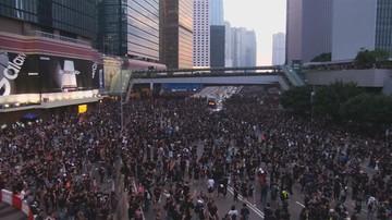 Setki tysięcy ludzi na ulicach Hongkongu. Kolejny dzień protestów przeciw ustawie o ekstradycji