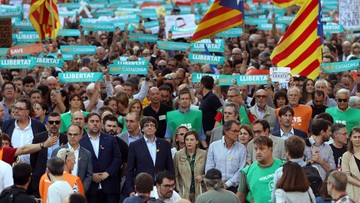450 tys. ludzi na ulicach Barcelony. Manifestowali poparcie dla niepodległości regionu