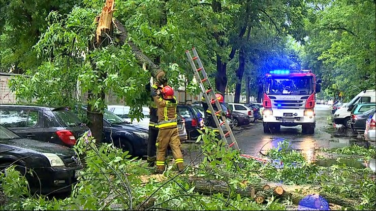 Gwałtowne burze, które przeszły nad Polską spowodowały zniszczenia