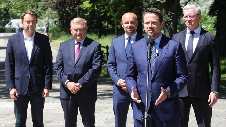 Trzaskowski na wspólnej konferencji z prezydentami miast: powołujemy stowarzyszenie samorządowe