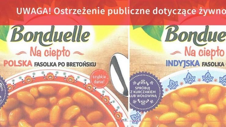 GIS wycofuje produkty Bonduelle i ostrzega przed ich spożywaniem