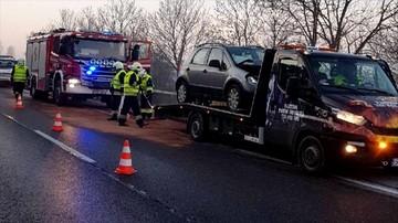 Karambol w Będzinie  na Śląsku. Zderzyło się siedem samochodów