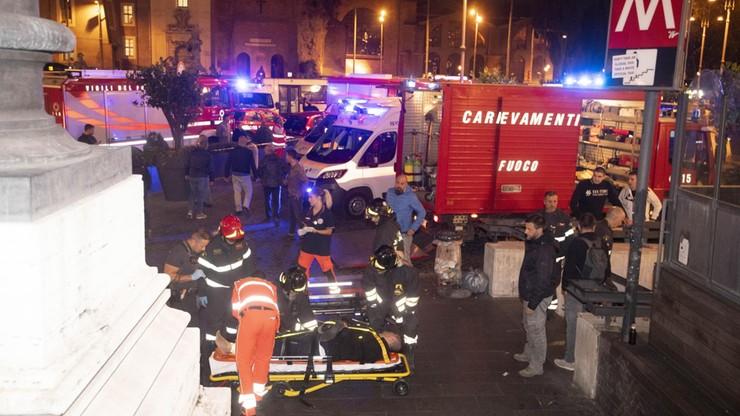 Zawaliły się ruchome schody. 24 osoby ranne, jedna ciężko