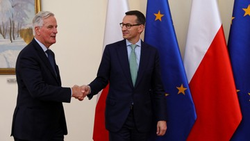 Premier po spotkaniu z Barnierem: stoimy w obronie praw Polaków w W. Brytanii