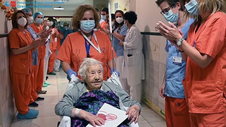 104-latka pokonała Covid-19. Personel medyczny nagrodził ją oklaskami