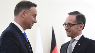 Duda: szef MSZ Niemiec wyraził uznanie za moją interwencję ws. ustaw reformujących sądownictwo