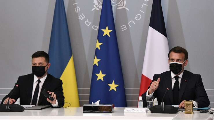Macron, Merkel i Zełenski wzywają Rosję do wycofania wojsk z ukraińskiej granicy