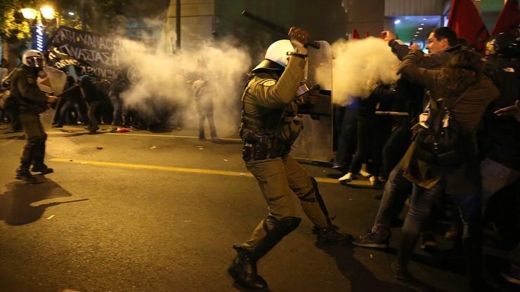 Protesty przeciwko wizycie Obamy w Grecji. Interweniowała policja