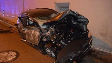 Słowacja. Rozpędzone BMW dosłownie wyleciało w powietrze. Kierowca nie ucierpiał