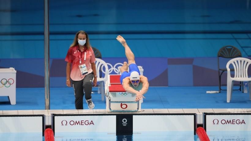 Tokio 2020: Jakub Majerski piąty w pływaniu. Amerykanin pobił rekord świata