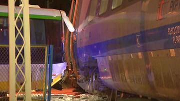 Autokar zderzył się z Pendolino. Przywrócono już ruch kolejowy