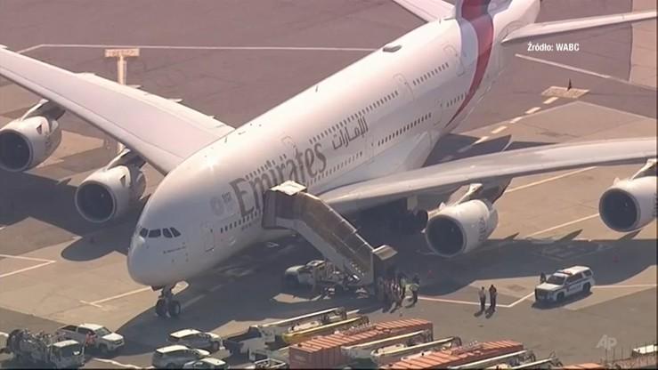 Objawy grypy podczas lotu z Dubaju do USA. We Francji - podejrzenie cholery i ewakuacja 140 osób