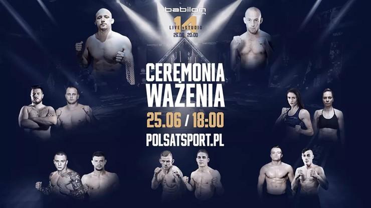 Babilon MMA 14: Ceremonia ważenia. Transmisja w Polsacie Sport News i na Polsatsport.pl